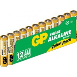 LR03 ALCALINES PACK DE 12 PILES