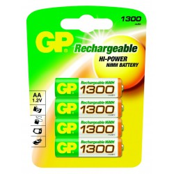 PILES RECHARGEABLES 1300 mAh LR06 / AA x4