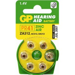 Piles appareils auditifs ZA 312